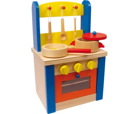 Piccola cucina giocattolo in legno