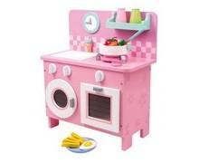 Valigetta con cucina giocattolo in legno